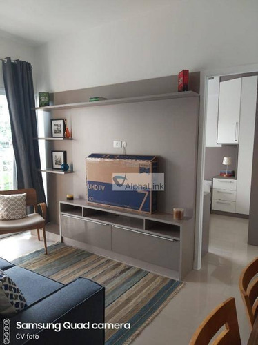 apartamento com 1 dormitório para alugar, 50 m² por r$ 2.500/mês - tamboré - santana de parnaíba/sp - ap1690
