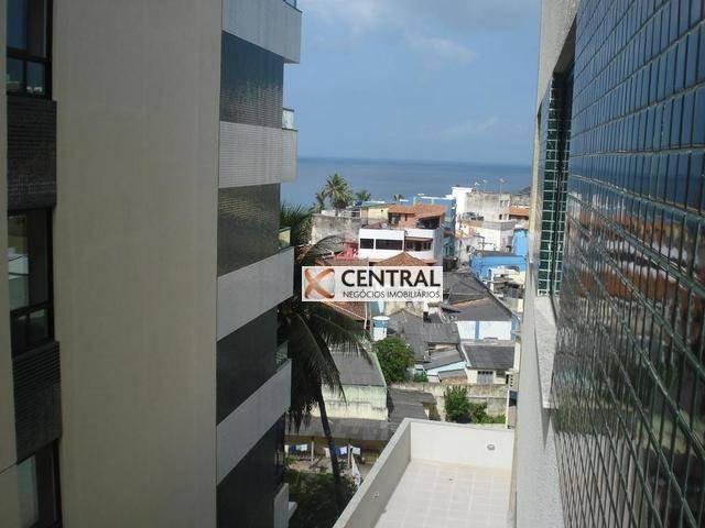 apartamento com 1 dormitório para alugar, 55 m² por r$ 1.190,00/mês - rio vermelho - salvador/ba - ap2119