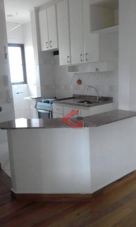 apartamento com 1 dormitório para alugar, 55 m² por r$ 1.200,00/mês - jardim do mar - são bernardo do campo/sp - ap2878