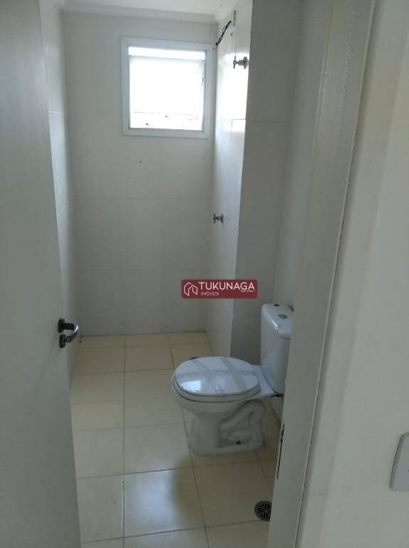 apartamento com 1 dormitório para alugar, 62 m² por r$ 1.200/mês - centro - guarulhos/sp - ap3816