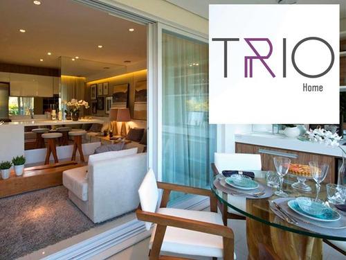 apartamento com 1 dormitório à venda, 100 m² por r$ 499.000 - cidade jardim - piracicaba/sp - ap1017