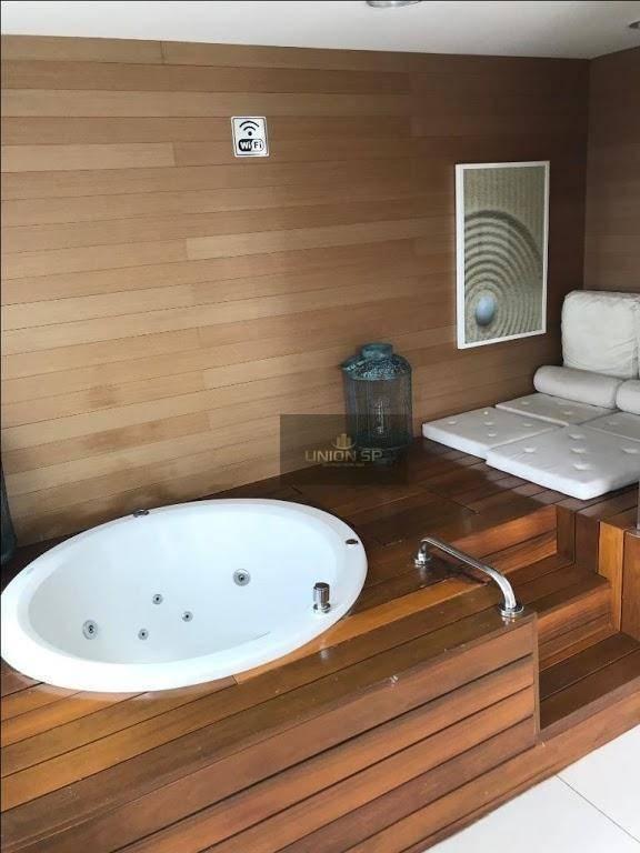 apartamento com 1 dormitório à venda, 32 m² por r$ 418.000,00 - brooklin - são paulo/sp - ap40698