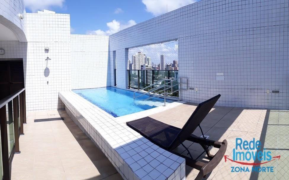 apartamento com 1 dormitório à venda, 35 m² por r$ 240.000 - madalena - recife/pe - ap3318