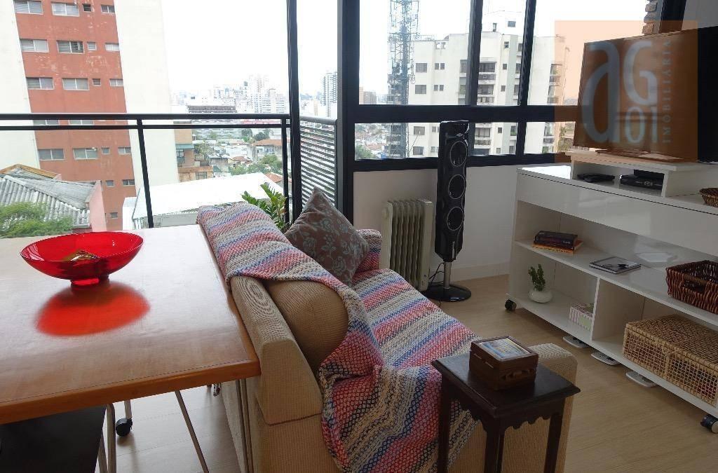 apartamento com 1 dormitório à venda, 35 m² por r$ 600.000,00 - vila madalena - são paulo/sp - ap3113