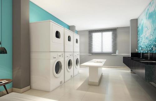 apartamento com 1 dormitório à venda, 36 m² por r$ 372.300 - campo belo - são paulo/sp - ap0281