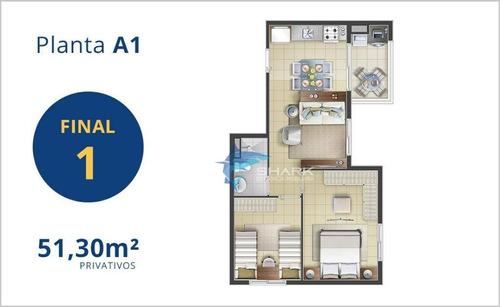 apartamento com 1 dormitório à venda, 39 m² por r$ 2.143 - jardim tupanci - barueri/sp - ap0022