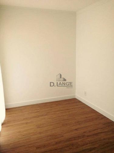 apartamento com 1 dormitório à venda, 39 m² por r$ 330.000 - centro - campinas/sp - ap17710