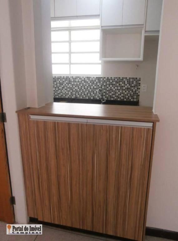 apartamento com 1 dormitório à venda, 40 m² por r$ 203.000,00 - jardim chapadão - campinas/sp - ap0189