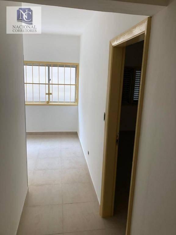 apartamento com 1 dormitório à venda, 40 m² por r$ 210.000 - centro - santo andré/sp - ap8524