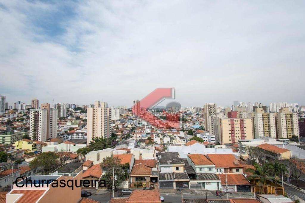 apartamento com 1 dormitório à venda, 41 m² por r$ 240.000 - vila valparaíso - santo andré/sp - ap2795