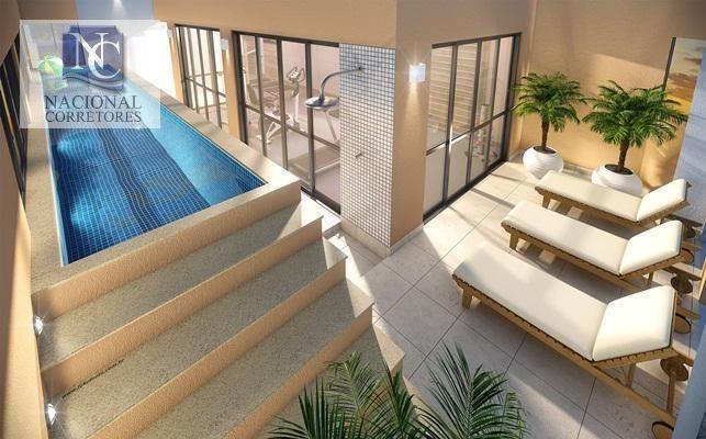 apartamento com 1 dormitório à venda, 41 m² por r$ 240.000,00 - vila valparaíso - santo andré/sp - ap5452