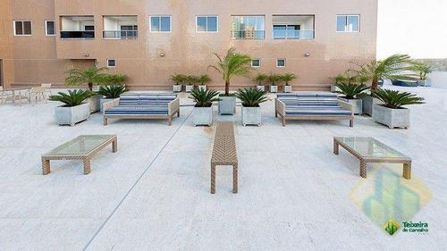 apartamento com 1 dormitório à venda, 41 m² por r$ 250.000 - brisamar - joão pessoa/pb - ap0262