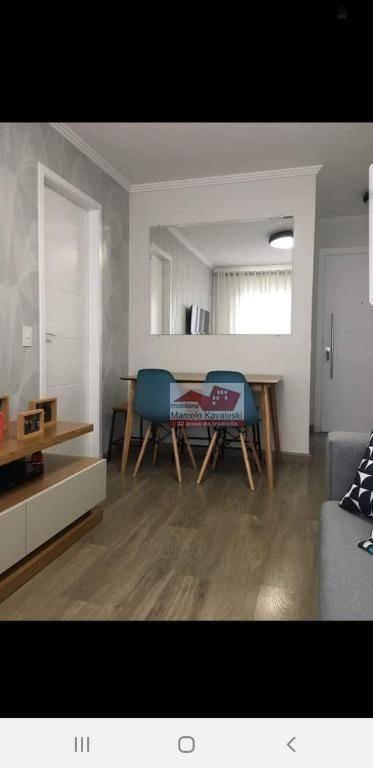 apartamento com 1 dormitório à venda, 42 m² por r$ 295.000 - alto da mooca - são paulo/sp - ap9432