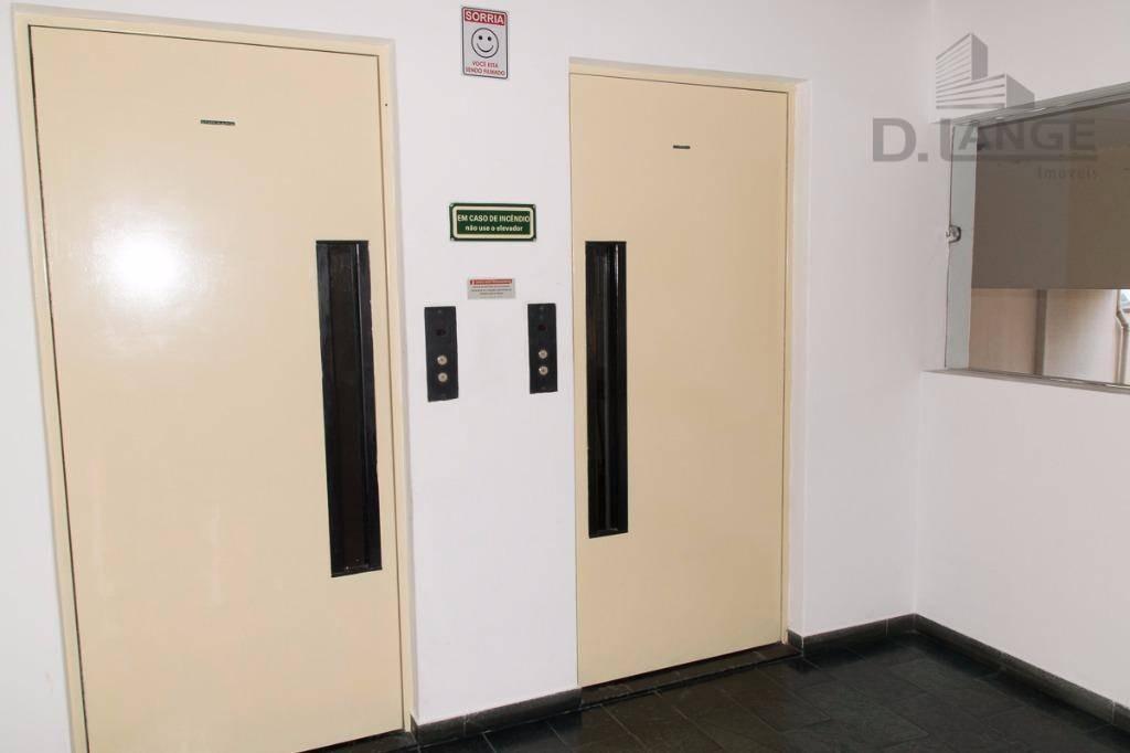 apartamento com 1 dormitório à venda, 43 m² por r$ 210.000 - centro - campinas/sp - ap14384