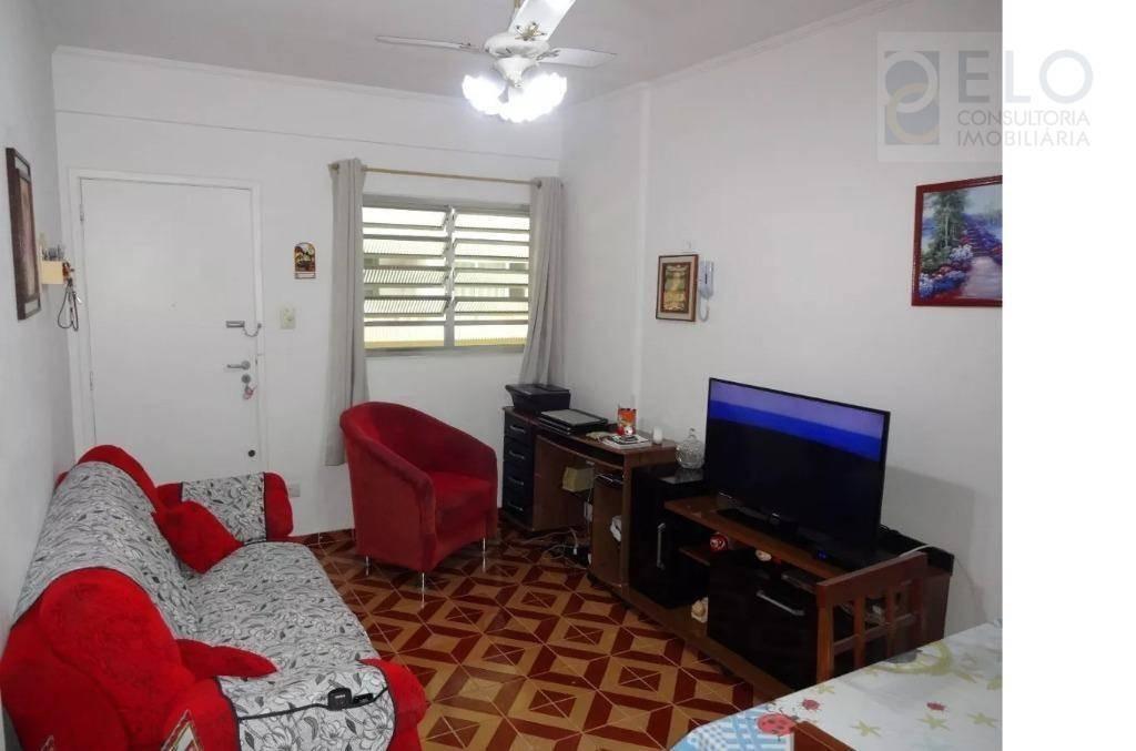 apartamento com 1 dormitório à venda, 43 m² por r$ 265.000,00 - ponta da praia - santos/sp - ap1567