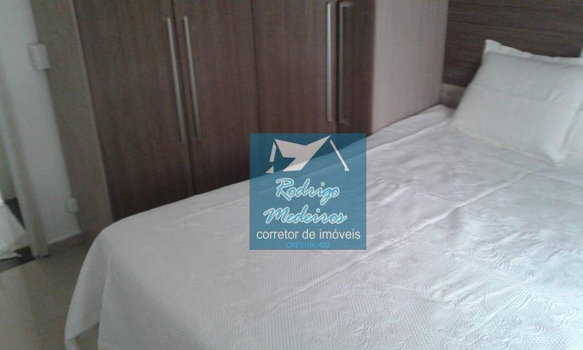 apartamento com 1 dormitório à venda, 45 m² por r$ 130.000 - caiçara - praia grande/sp - ap0443