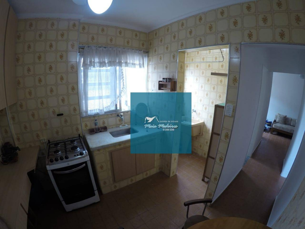 apartamento com 1 dormitório à venda, 45 m² por r$ 144.000 - vila guilhermina - praia grande/sp - ap0458