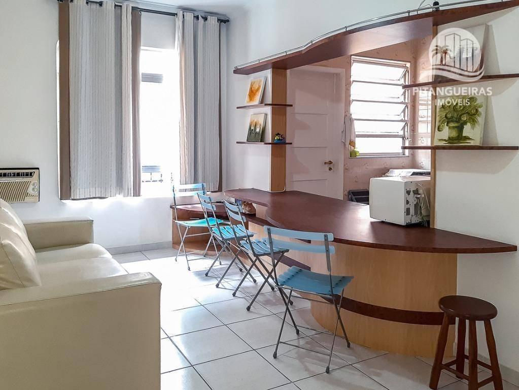 apartamento com 1 dormitório à venda, 45 m² por r$ 180.000,00 - enseada - guarujá/sp - ap5034