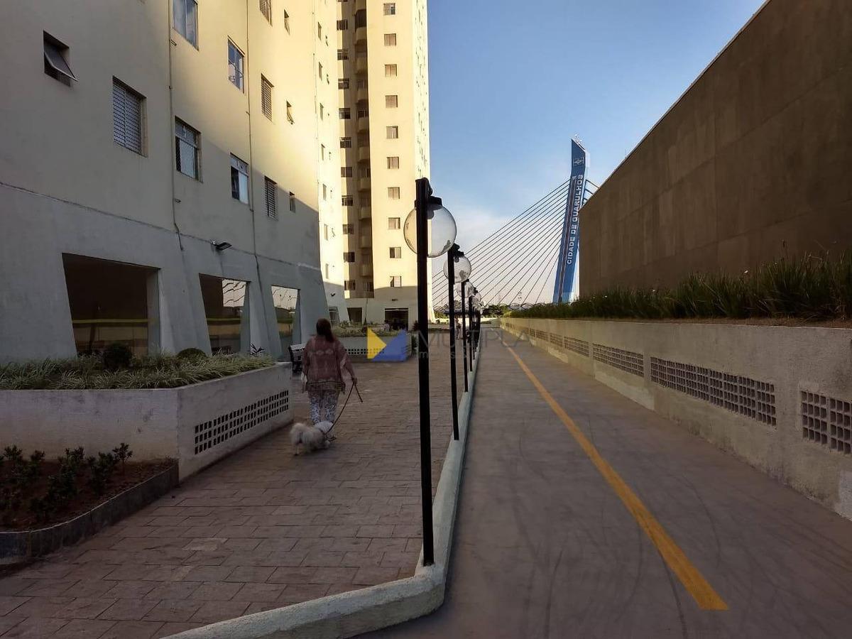 apartamento com 1 dormitório à venda, 45 m² por r$ 210.000 - macedo - guarulhos/sp - ap0128