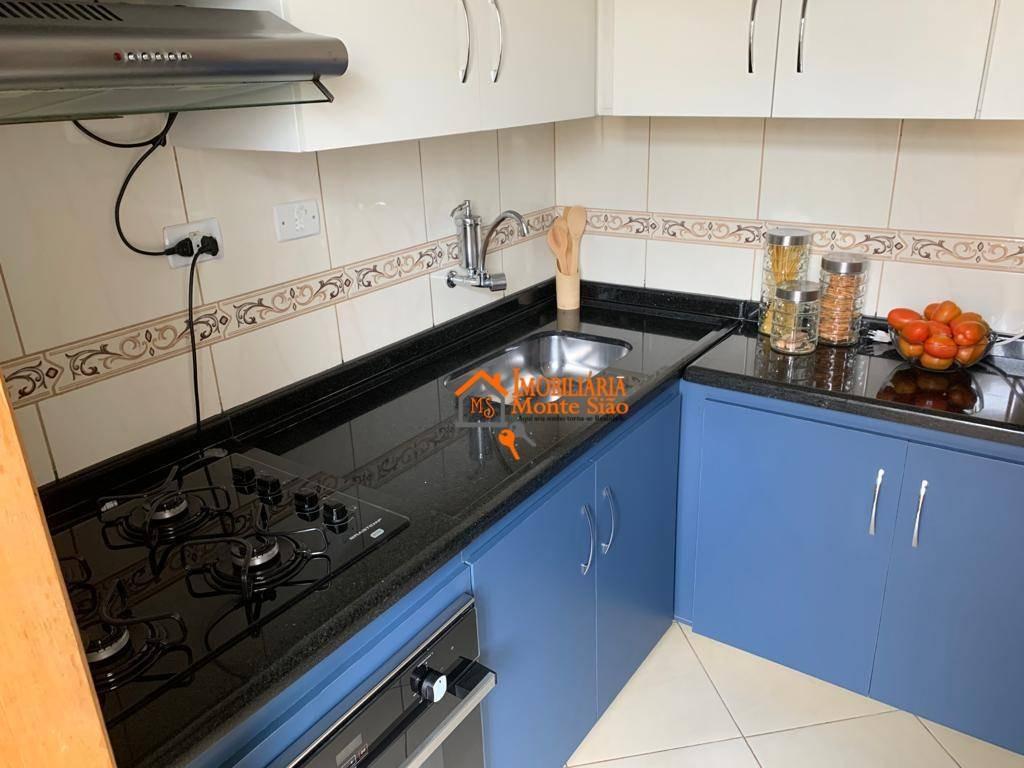 apartamento com 1 dormitório à venda, 48 m² por r$ 200.000,00 - macedo - guarulhos/sp - ap1267