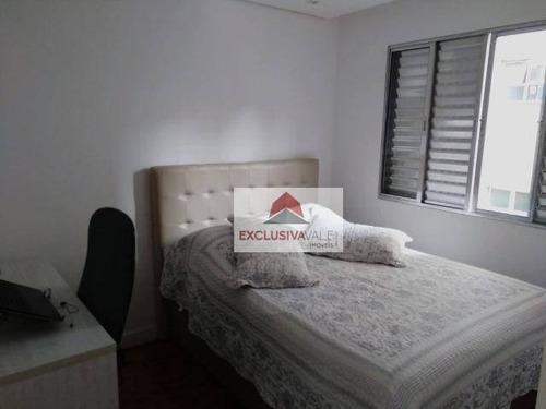 apartamento com 1 dormitório à venda, 48 m² por r$ 225.000 - vila adyana - são josé dos campos/sp - ap2367