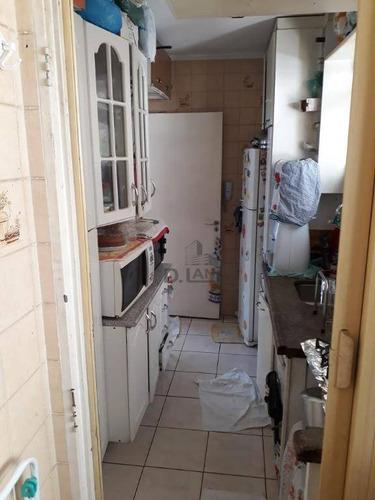 apartamento com 1 dormitório à venda, 50 m² por r$ 195.000 - bosque - campinas/sp - ap18001