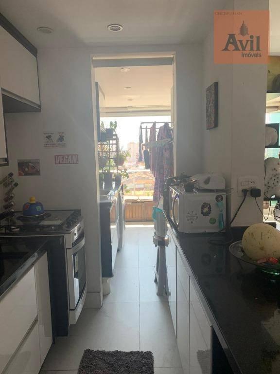 apartamento com 1 dormitório à venda, 55 m² por r$ 500.000,00 - tatuapé - são paulo/sp - ap2608