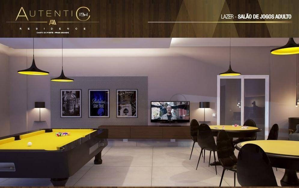 apartamento com 1 dormitório à venda, 59 m² por r$ 260.070 - canto do forte - praia grande/sp - ap2291