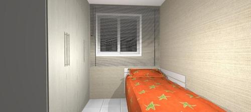 apartamento com 1 dormitório à venda, 60 m² por r$ 163.000 - campo da aviação - praia grande/sp - ap1404