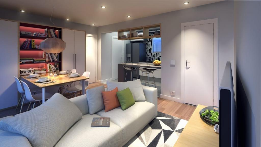 apartamento com 1 dormitório à venda, 60 m² por r$ 302.400 - fundação - são caetano do sul/sp - ap2825