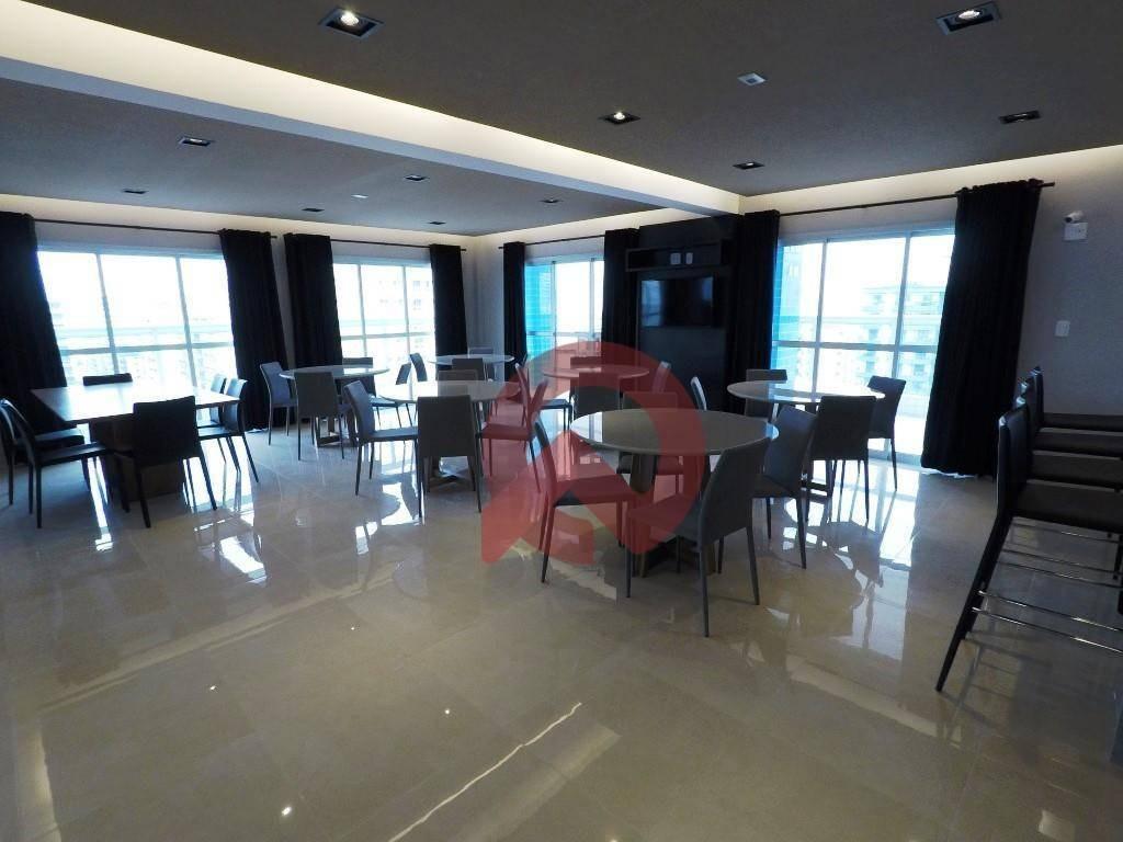apartamento com 1 dormitório à venda, 64 m² por r$ 330.000,00 - canto do forte - praia grande/sp - ap2746