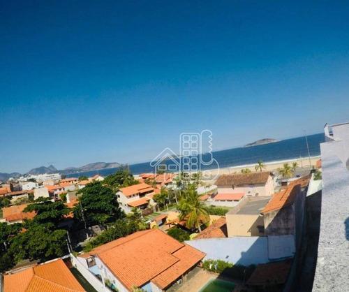 apartamento com 1 dormitório à venda, 70 m² por r$ 399.000 - piratininga - niterói/rj - ap2642