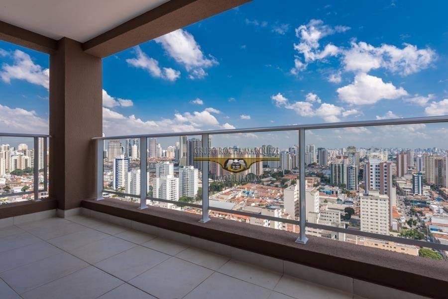 apartamento com 1 dormitório à venda, 71 m² por r$ 660.000 - tatuapé - são paulo/sp - ap1652