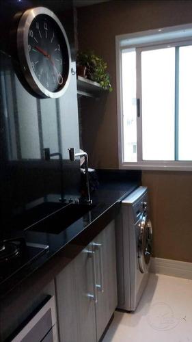 apartamento com 1 dormitório à venda, 72 m² por r$ 400.000 - jardim tupanci - barueri/sp - ap0203