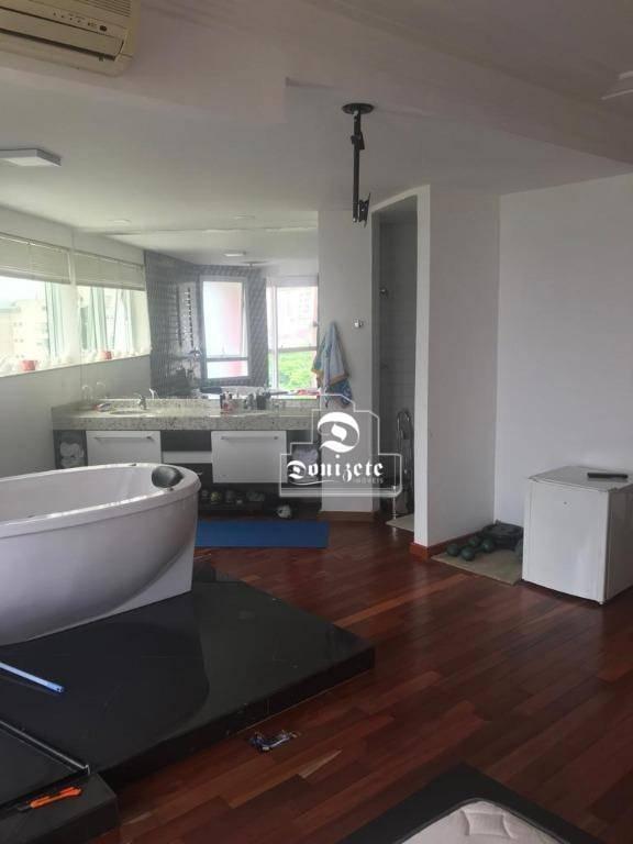 apartamento com 1 dormitório à venda, 86 m² por r$ 610.000,00 - jardim - santo andré/sp - ap1471