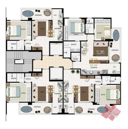 apartamento com 1 e 2 suite à venda - setor marista - goiânia/go - ap0223