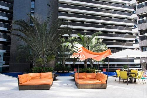 apartamento com 1 quarto à venda, 40 m², mobiliado, área de lazer, 1 vaga - meireles - fortaleza/ce - ap0930