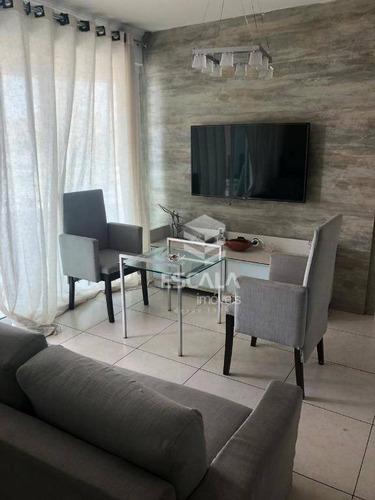 apartamento com 1 quarto à venda, 46 m², mobiliado, 1 vaga - praia de iracema - fortaleza/ce - ap1677