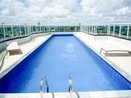 apartamento com 1 quarto à venda, 46 m², vista mar, mobiliado - praia de iracema - fortaleza/ce - ap1719