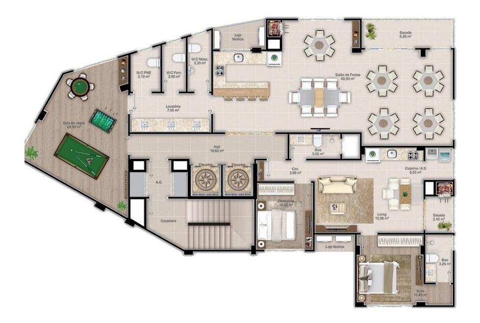 apartamento com 1 quartos para comprar no varzea em itapema/sc - 2307