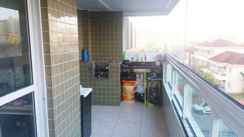 apartamento com 2 dorm - 1 suíte - varanda - lazer completo - canto do forte