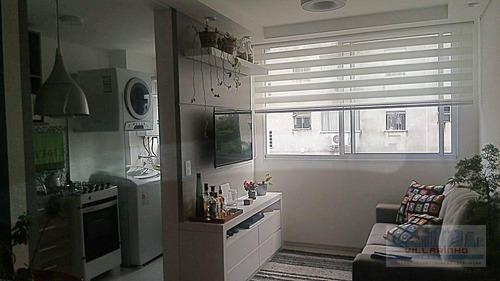 apartamento com 2 dormitórios, 1 vaga, linda vista, à venda,por r$ 240.000 - ipanema - porto alegre/rs - ap1333