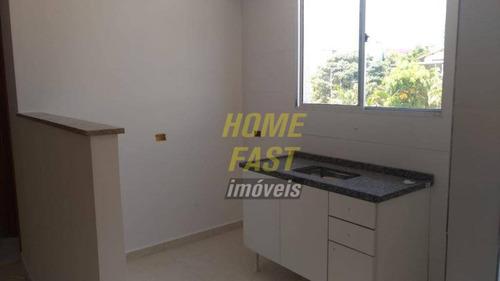 apartamento com 2 dormitórios e uma vaga, para alugar, 45 m² por r$ 1.100/mês - centro - guarulhos/sp - ap1136