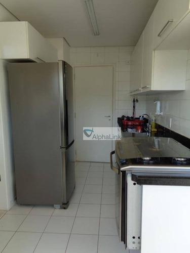 apartamento com 2 dormitórios para alugar, 110 m² por r$ 3.500/mês - tamboré - santana de parnaíba/sp - ap1674