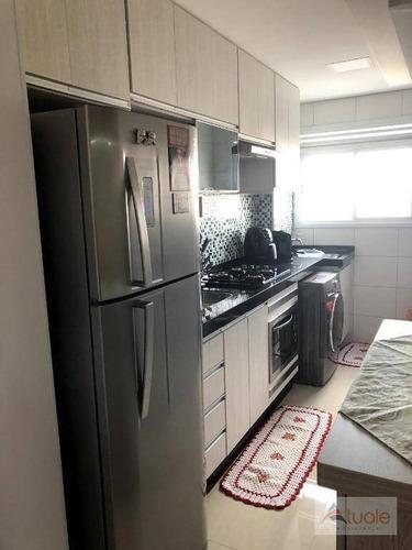 apartamento com 2 dormitórios para alugar, 46 m² - cariobinha - americana/sp - ap6451