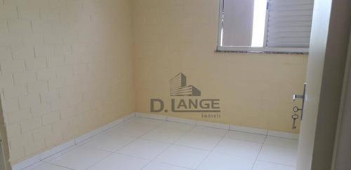 apartamento com 2 dormitórios para alugar, 46 m² por r$ 900/mês - jardim bela vista - campinas/sp - ap17630