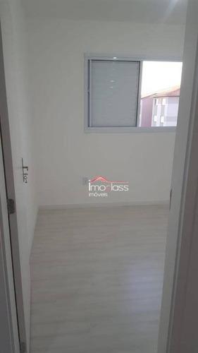 apartamento com 2 dormitórios para alugar, 48 m² - jardim nova conquista - santa bárbara d'oeste/sp - ap0759