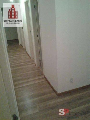 apartamento com 2 dormitórios para alugar, 50 m² por r$ 1.500/mês - mooca - são paulo/sp - ap1092