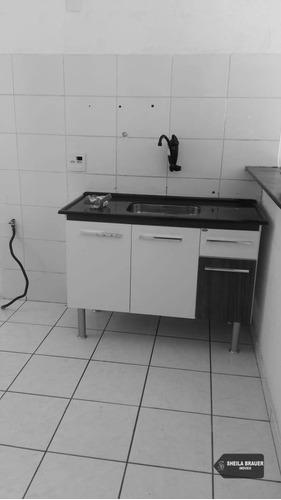 apartamento com 2 dormitórios para alugar, 50 m² por r$ 750/mês - água chata - guarulhos/sp - ap0078