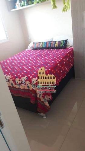 apartamento com 2 dormitórios para alugar, 50 m² por r$ 800/mês - chácaras reunidas são jorge - sorocaba/sp - ap0074